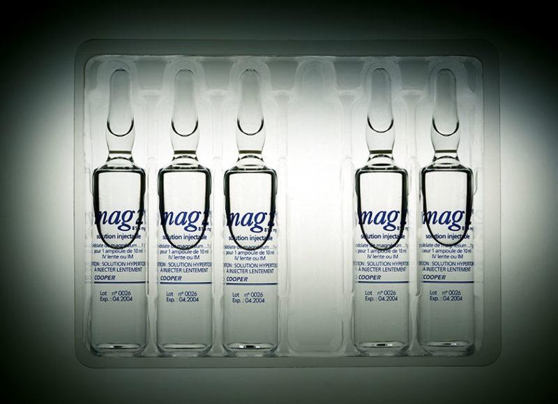 Solution injectable de Magnesium dans un blister