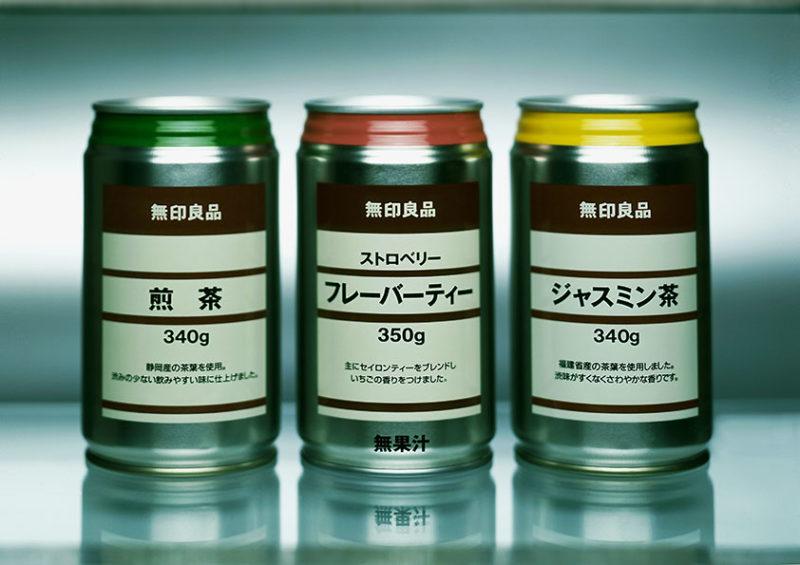 3 canettes de soda Muji