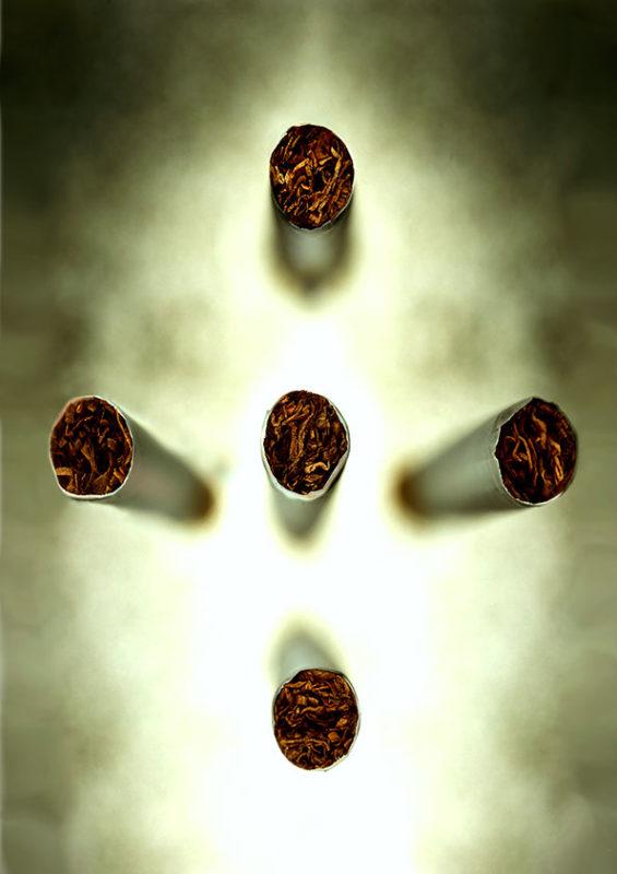 Installation de cigarettes dans la fume