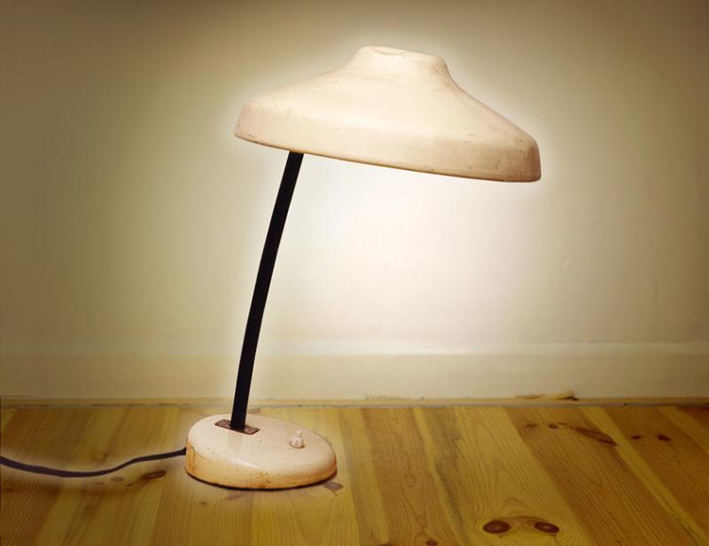 lampe de table ronde