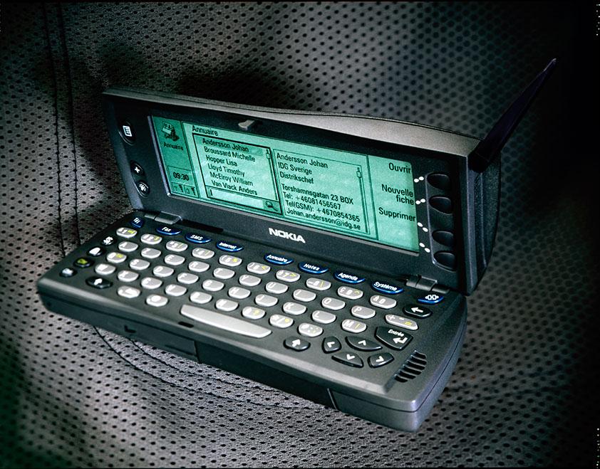 smartphone vintage avec clavier